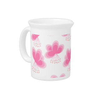 Modelo de mariposa de la flor de cerezo jarras de beber