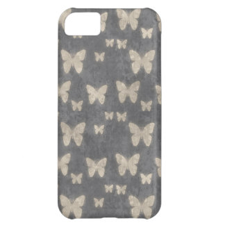 Modelo de mariposa de los azules marinos del vinta funda para iPhone 5C
