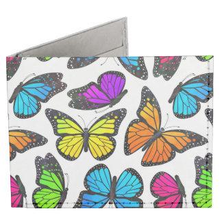 Modelo de mariposa de monarca del arco iris billeteras tyvek®