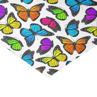 Modelo de mariposa de monarca del arco iris papel de seda pequeño