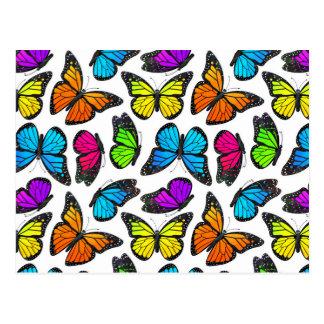 Modelo de mariposa de monarca del arco iris tarjetas postales