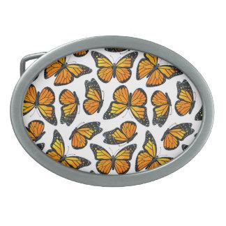 Modelo de mariposa de monarca hebillas cinturon ovales