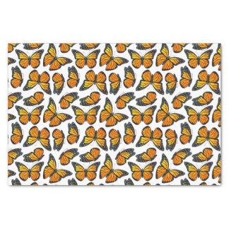 Modelo de mariposa de monarca papel de seda pequeño