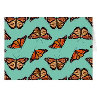 Modelo de mariposa de monarca tarjeta de felicitación