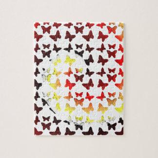 Modelo de mariposa del remolino del color del otoñ rompecabezas con fotos