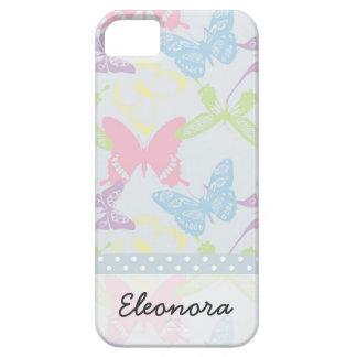 Modelo de mariposa en colores pastel iPhone 5 fundas