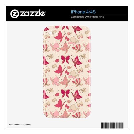 modelo de mariposa iPhone 4S calcomanía