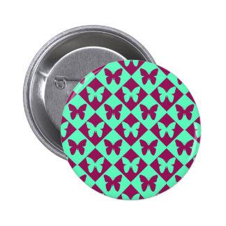Modelo de mariposa lindo del Dos-Tono Pin Redondo 5 Cm