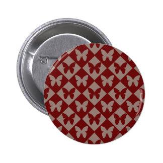 Modelo de mariposa lindo del Dos-Tono Pin Redondo De 2 Pulgadas