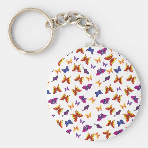 Modelo de mariposa llavero redondo tipo pin