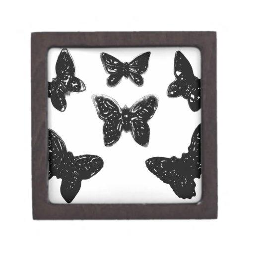 Modelo de mariposa negro cajas de recuerdo de calidad