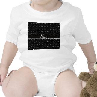 Modelo de mariposa negro conocido personalizado trajes de bebé