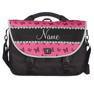 Modelo de mariposa rosado conocido personalizado bolsas de portatil