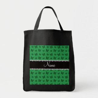 Modelo de mariposa verde conocido personalizado bolsas