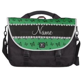 Modelo de mariposa verde conocido personalizado bolsas de portátil