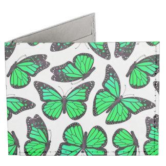 Modelo de mariposa verde de monarca billeteras tyvek®
