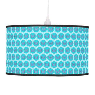 Modelo de mariposas azul lámpara de techo