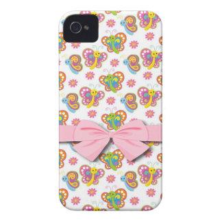 modelo de mariposas feliz de la primavera Case-Mate iPhone 4 fundas