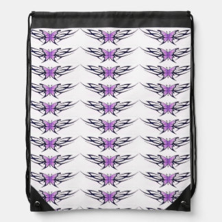 modelo de mariposas púrpura estilizado mochilas