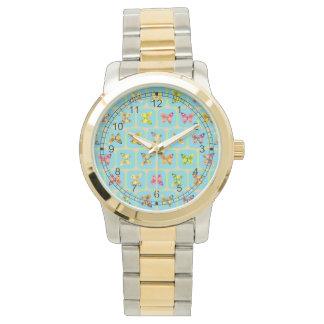 Modelo de mariposas reloj de mano