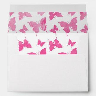 Modelo de mariposas rosado lindo de la acuarela sobre