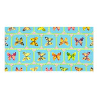 Modelo de mariposas tarjetas fotográficas personalizadas