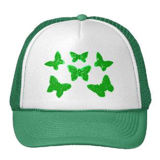 Modelo de mariposas verde gorra