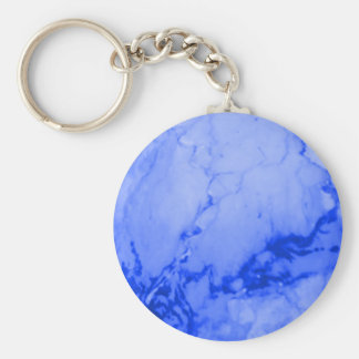 Modelo de mármol azul brillante llavero redondo tipo pin