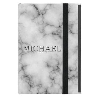 Modelo de mármol blanco muy realista con el iPad mini protector
