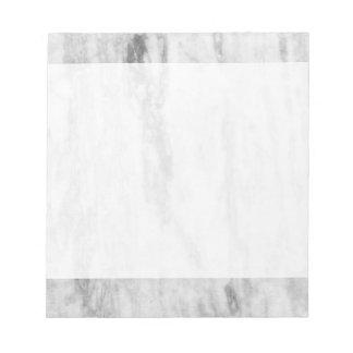 Modelo de mármol blanco y gris de la textura blocs de notas