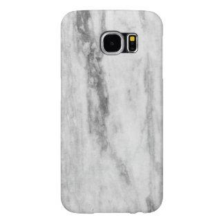 Modelo de mármol blanco y gris de la textura funda samsung galaxy s6