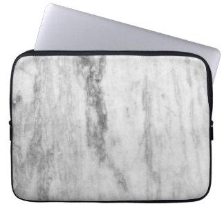 Modelo de mármol blanco y gris de la textura fundas computadoras