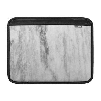 Modelo de mármol blanco y gris de la textura fundas MacBook