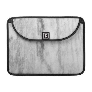 Modelo de mármol blanco y gris de la textura fundas para macbooks