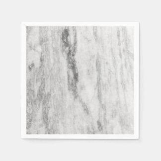 Modelo de mármol blanco y gris de la textura servilletas desechables