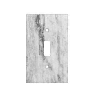 Modelo de mármol blanco y gris de la textura placas para interruptor