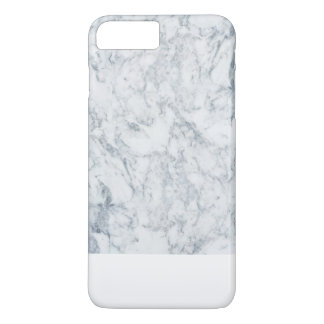 Modelo de mármol de moda blanco azul moderno de la funda iPhone 7 plus