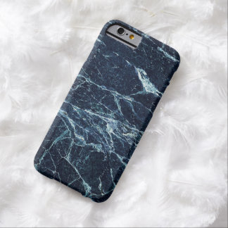 Modelo de mármol moderno azul funda para iPhone 6 barely there