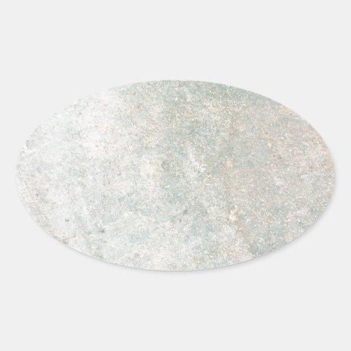 Modelo de mármol pálido pegatina ovalada