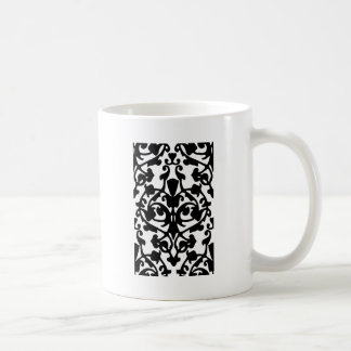 Modelo de máscara blanco y negro del De Taza De Café
