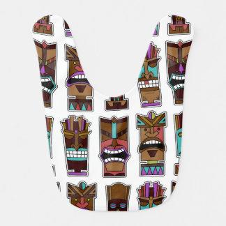 Modelo de máscara de Tiki Baberos Para Bebé