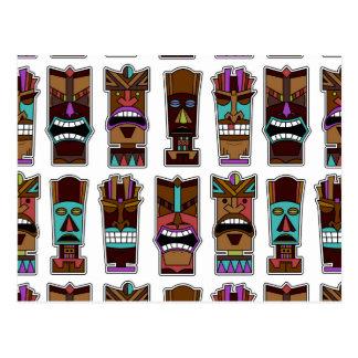 Modelo de máscara de Tiki Tarjetas Postales