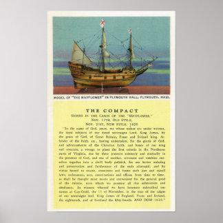 Modelo de Mayflower Póster