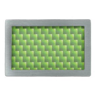 modelo de mimbre verde claro, artes del verano de hebillas de cinturón rectangulares