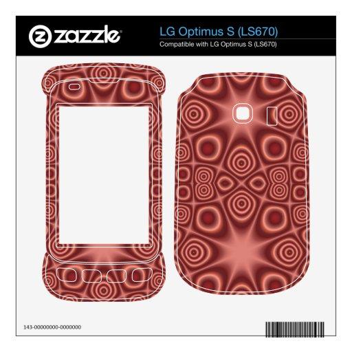 Modelo de moda abstracto LG optimus s skins