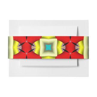 Modelo de moda abstracto moderno cintas para invitaciones