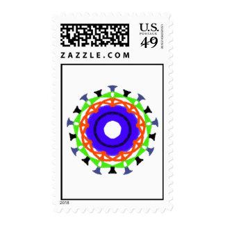 Modelo de moda abstracto moderno sello