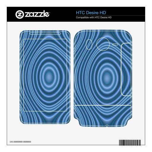modelo de moda azul calcomanías para HTC desire HD