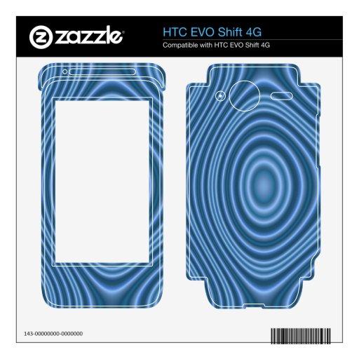 modelo de moda azul HTC EVO shift 4G calcomanía