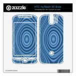 modelo de moda azul HTC myTouch 3G slide skin